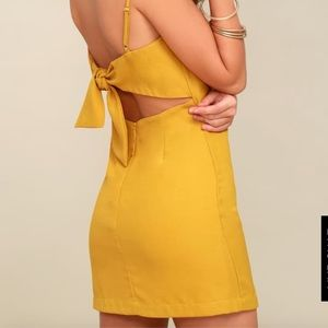 Lulus Mustard Yellow Dress
